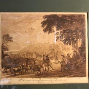Richard Earlom after Claude Lorrain - 1774 Mezzotint, Sportsman Halting