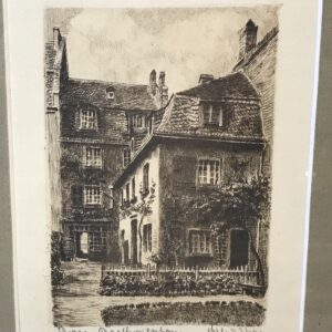 etching print beethoven's house bonn