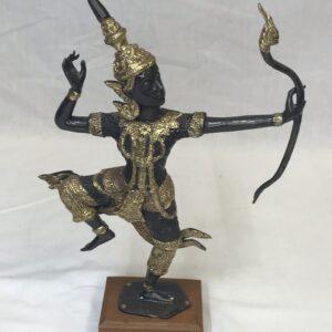 Thai Gilt Bronze Prince Phra Rama Sculpture of Archer