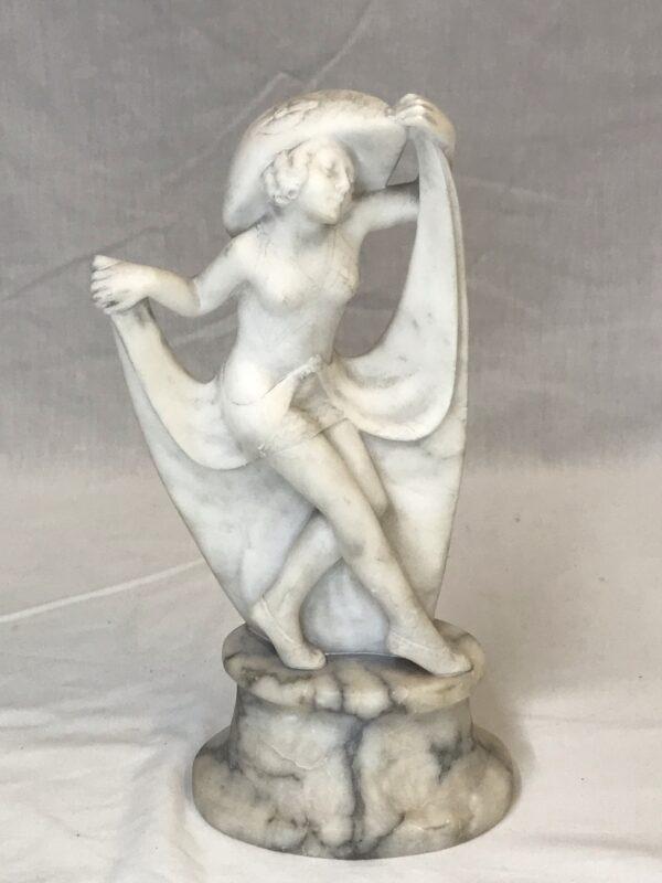 Art Deco Alabaster Sculpture of Dancer