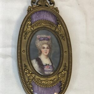 Hand Painted Miniature of Lady in 19th Century Costume