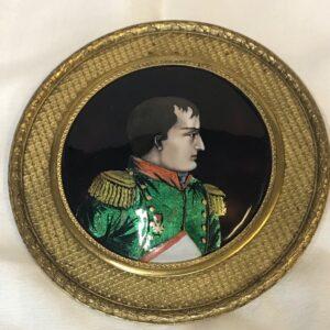 Antique Limoges Enamel of Napoleon, signed Gamet