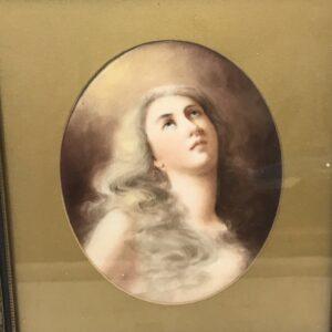 Limoges Porcelain Plaque of the Penitent Magdalene