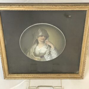 """Hand Painted Plate of """"Vestal Virgin"""" After Angelica Kauffman"""