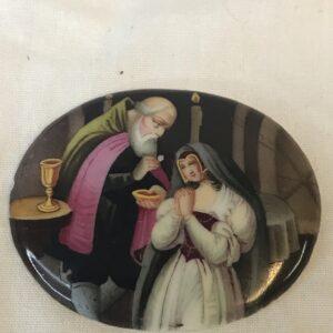 Miniature Porcelain Plaque of the Receiving Communion