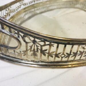 Antique English George V Sterling Silver Gallery Tray