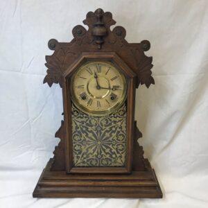 Antique Oak E. Ingraham Co. Mantle Clock with Chime