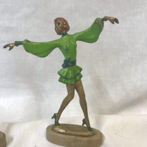 Art Deco Pierre Le Faguays Cold Patinated Fashion Dancer